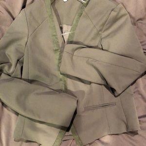 Necessary objects olive blazer